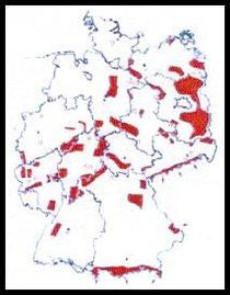 Karte AG Lebensraum Rotwild