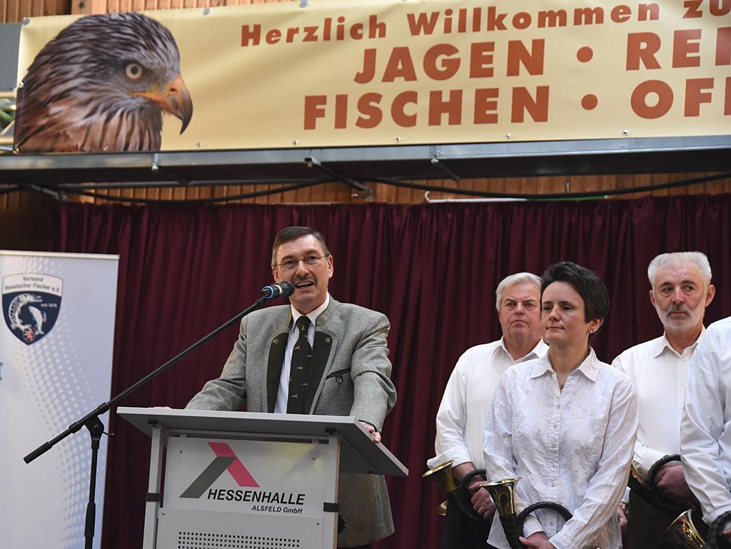 Prof. Dr. Jürgen Ellenberger auf der Jagdmesse in Alsfeld