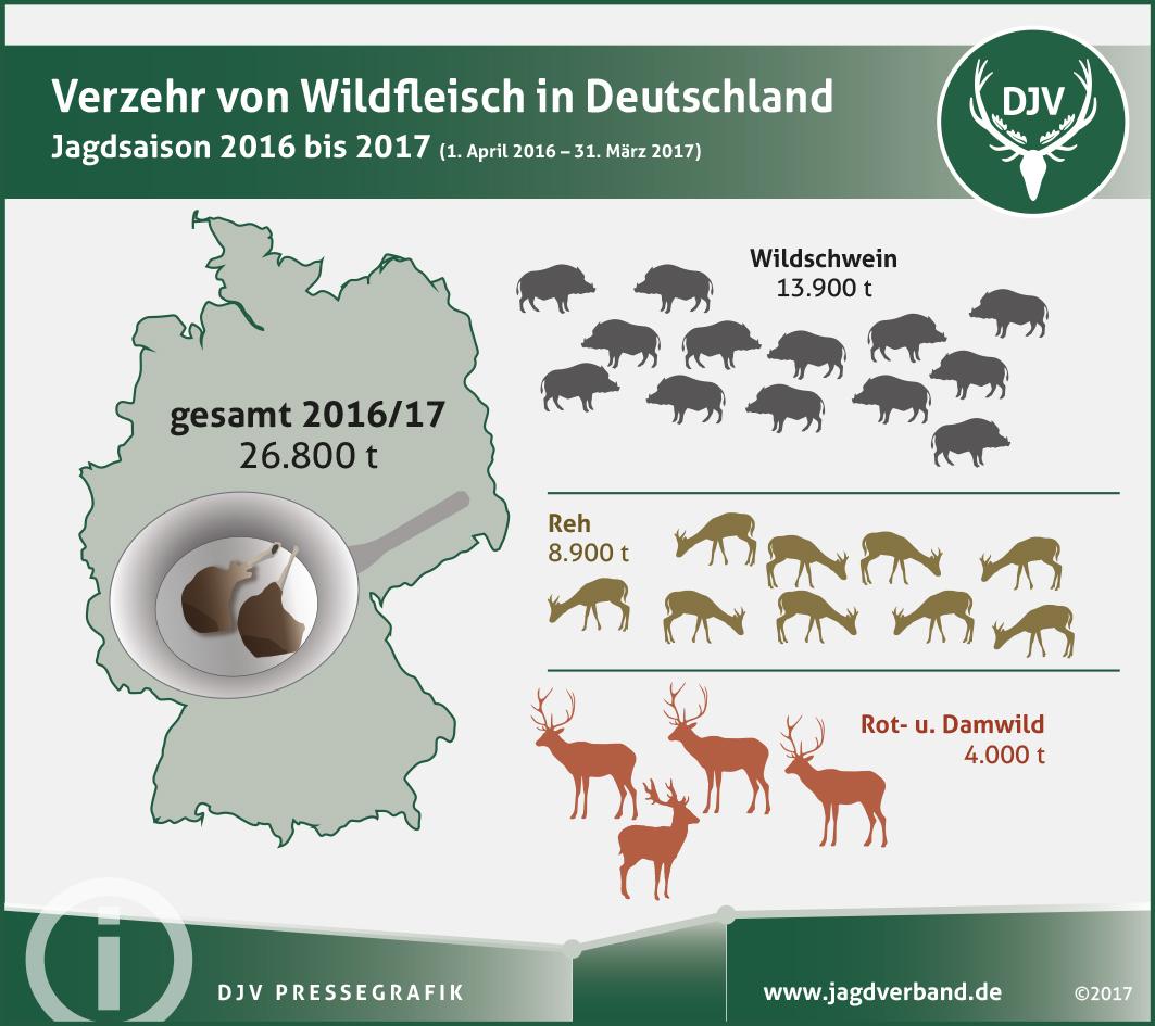 Grafik: Statistik Wildfleischverzehr