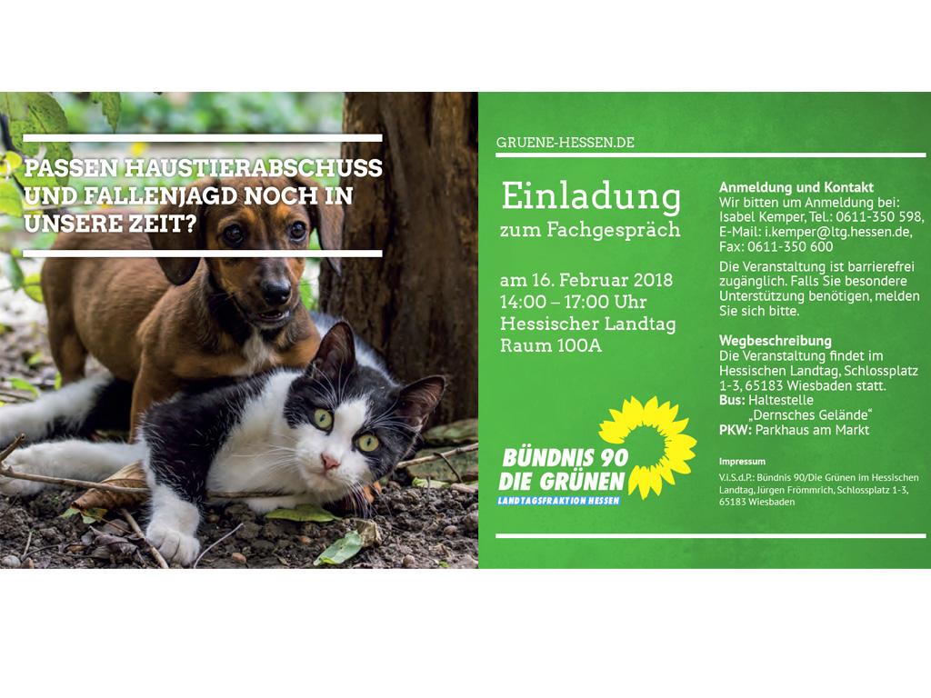 Fachgespräch der Grünen: Passen Haustierabschuss und Fallenjagd noch in unsere Zeit?