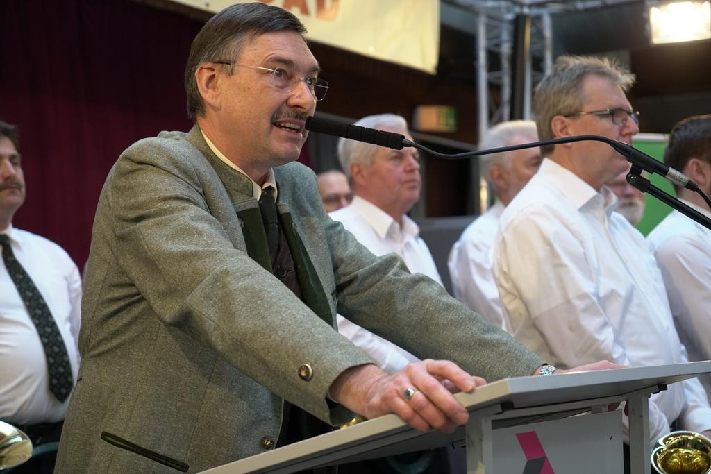Prof. Dr. Jürgen Ellenberger auf der Jagdmesse Alsfeld 2018