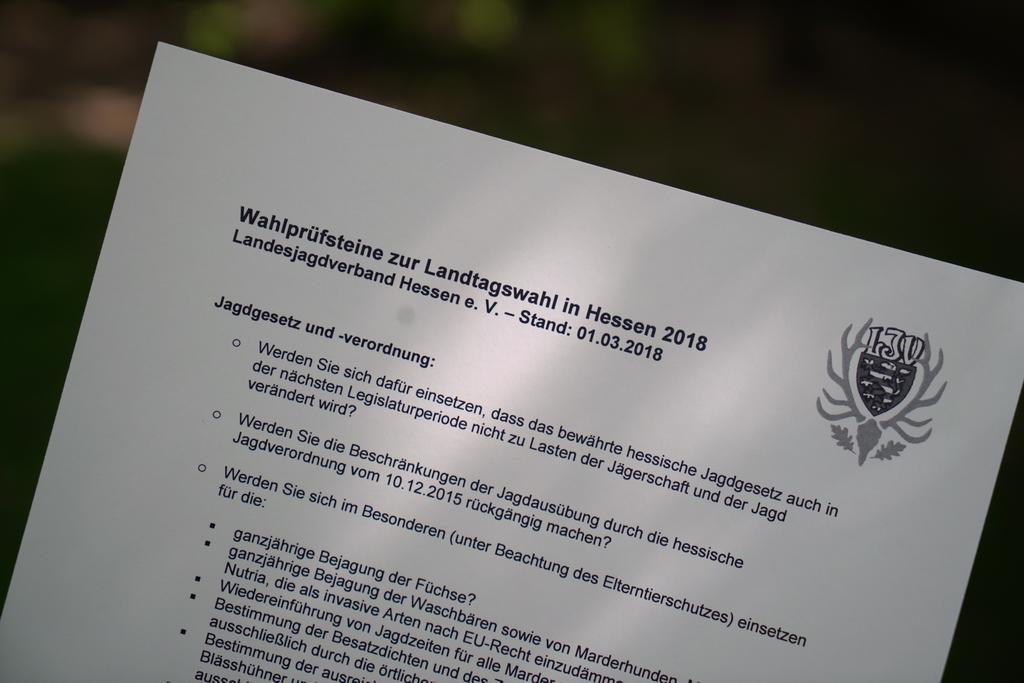 Landtagswahl 2018: Wahlprüfsteine des LJV