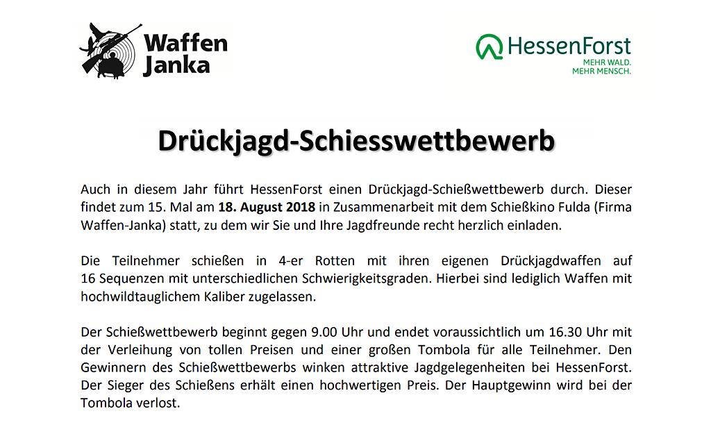 HessenForst Drückjagdschiesswettbewerb 2018
