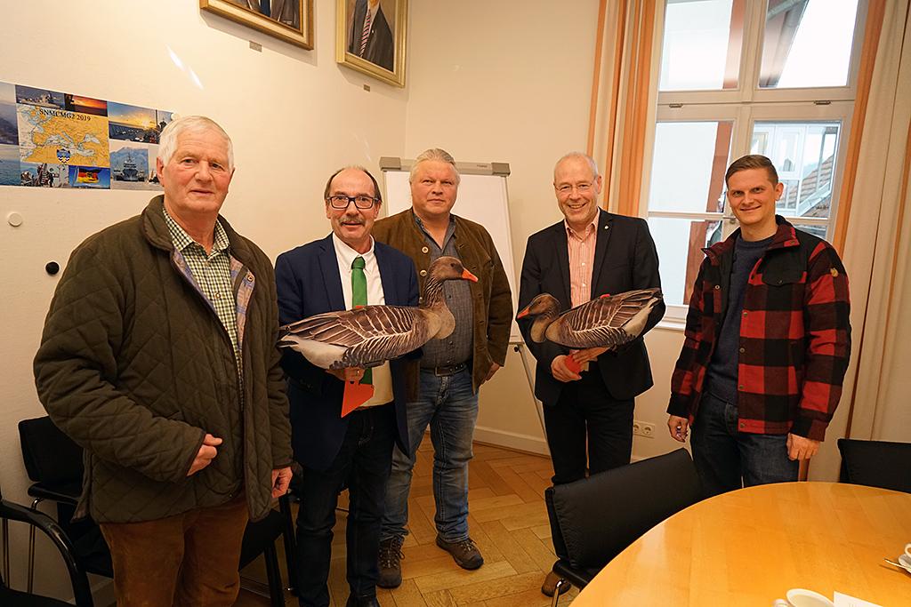 Pressekonferenz zum Projekt Wildgänse im Werratal