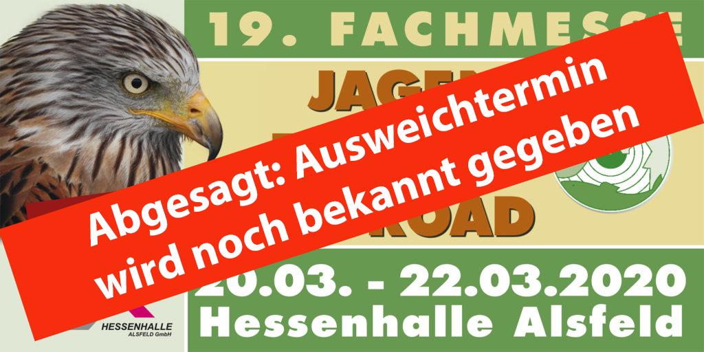 """ABGESAGT: """"Jagen – Fischen – Offroad"""" vom 20. bis 22. März 2020 in der Hessenhalle Alsfeld - Landesjagdverband Hessen e.V."""
