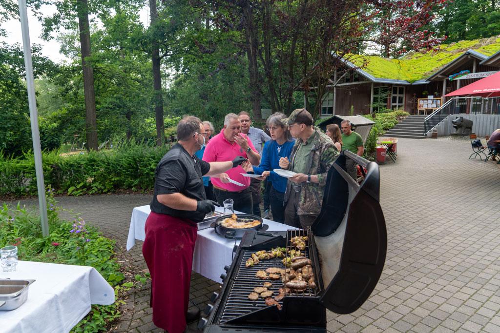 Grillabend beim LJV-Hessen Seminar Wild fotografieren und grillen